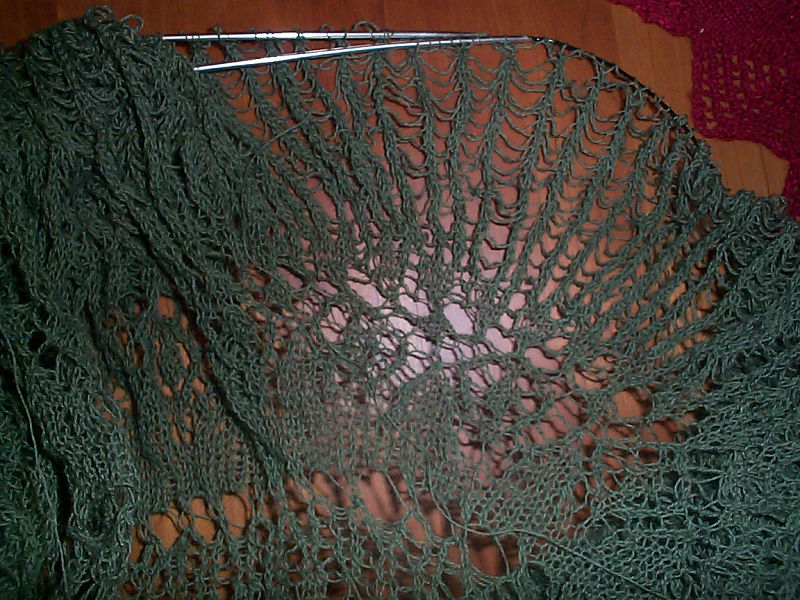 Knitted Tablecloth Patterns : Green lace tablecloth String-Or-Nothing