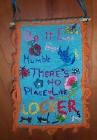 Be it ever so humble, there's n o place like locker.