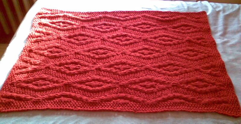 Pattern Red Diamonds Baby Blanket String Or Nothing