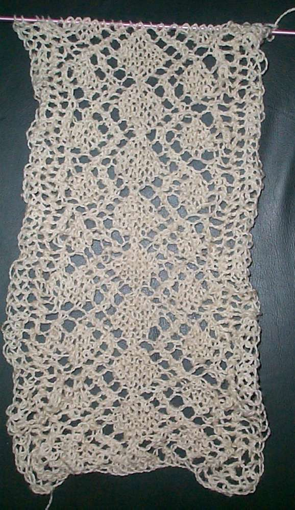 Free Lace Knitting Patterns For Scarves : Vintage Lace Scarf String-Or-Nothing