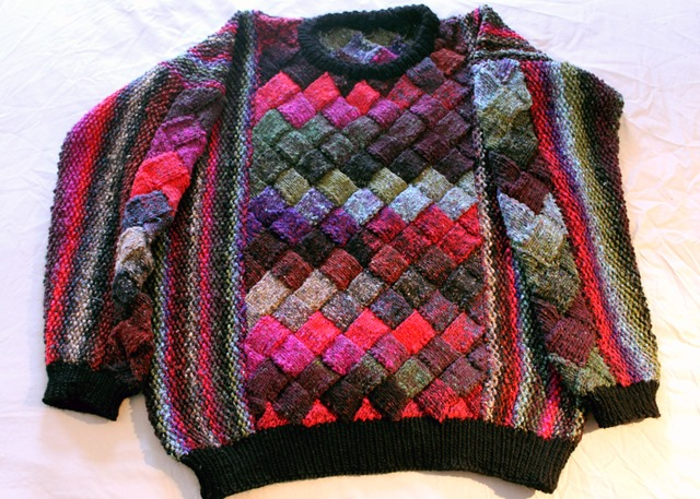 Entrelac Knitting Patterns Sweater Eksposa For